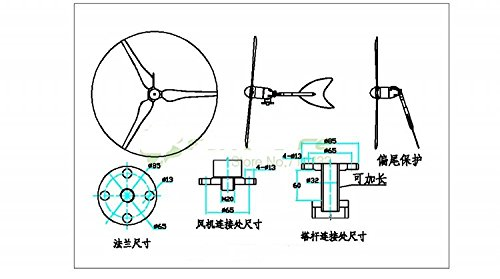 gowe 100w wind turbine wind energy machine use for potable wind solar system