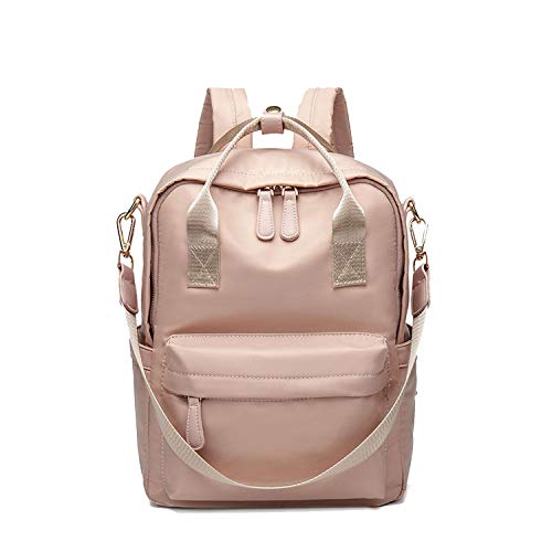 Fashion Backpack Women Backpack For Women Rain-Proof Technical Fabric Female Backpack Laptop,Pink Backpack,14 inches laptop ()