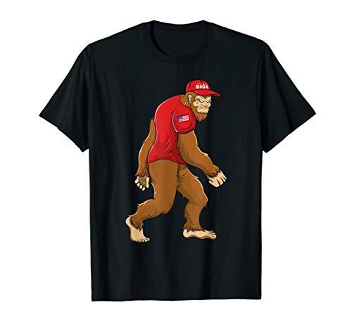 Trump 2020 USA Flag Sasquatch MAGA Bigfoot T-Shirt