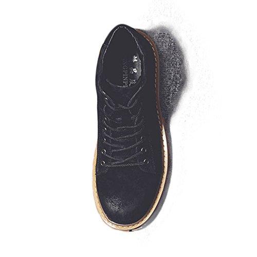 Stivali alti Up Stivaletti 2018 Martin uomo da Lace gentiluomini pelle in da Scarpe shoes Scarpe di vera per Nero uomo Jiuyue Stivali xXqa4YR