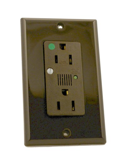 Leviton 8280 15 Amp, 125 Volt, Decora Plus Duplex Surge Suppressor Receptacle, Hospital Grade, Self Grounding, Straight Blade, (Brown Hospital Grade Receptacle)