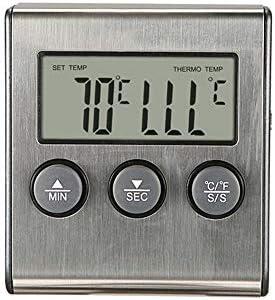 食品温度計 超高速インスタント読み取り温度計バーベキュー温度計オーブン高温ベーキングタイマー温度計デジタル肉温度計 クッキング温度計 (色 : One color, サイズ : 65*71*17.5mm)