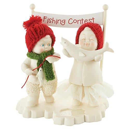 """Department 56 Snowbabies """"Fishing Contest"""" Porcelain Figurine, 5"""""""