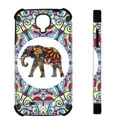 Houseofcases Tribal Floral Indian Elephant Art Samsung Galaxy S4 I9500 Case - Hybrid Plastic And Durable Silicon Samsung Galaxy S4 I9500 Case