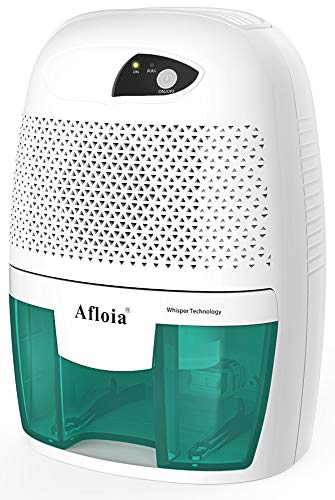Afloia Portable Small Dehumidifier for Bathroom, Electic Mini Home dehumidifier for Home Deshumidificador Home Dehumidifier for Baby Room Bathroom Space Bedroom RV Basement, Caravan, Office (500ml)