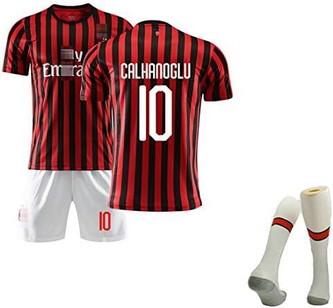 メンズサマーフットボールユニフォーム、19-20シーズンホームフットボールユニフォーム、Romagnoli 13用#Calhanoglu10#カカ22#、トレーニング用トップ
