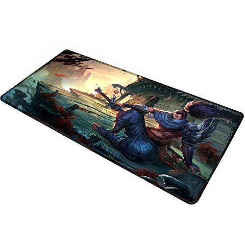 League of Legends Extended Size Professional Gaming Mouse Pad - Anti Slip Rubber Base -Computer Keyboard Pad Mat - Large Desk Mat-35.4