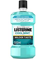 غسول الفم من ليسترين بدون كحول بنكهة النعناع الخفيف