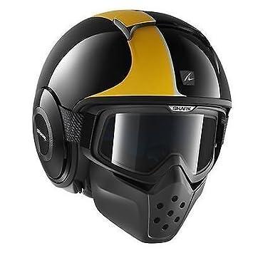 Amazonfr Helmet Casque Shark Raw Stripe Kos Jaune Brillant Avec