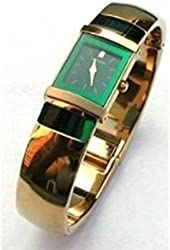 Seiko Lassale Watches Top of the Line Sapphire Crystal Emerald Color Dial 23k Gold Finish all made in Japan Women's