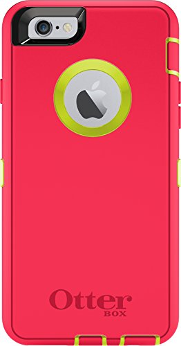 OtterBox Defender Series Case Holster Apple iPhone 6s Plus/6 Plus (5.5) - Retail Packaging - Citron Green/Blaze Pink