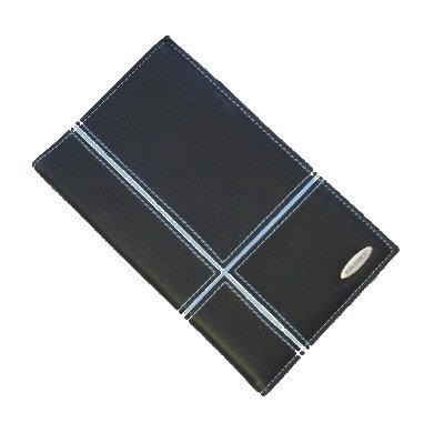 - Rolodex Personal Business Card Book, 72 Card Capacity, Black/Blue