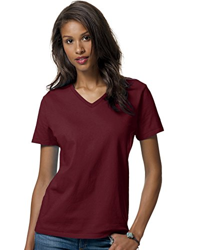 Hanes ComfortSoft Relaxed Fit Women`s V-neck T-Shirt - Best-Seller!