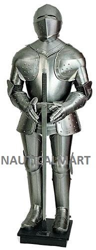 [MEDIEVAL KNIGHT REPRODUCTION FULLY WEARABLE SUIT OF BREASTPLATE BODY ARMOR] (Body Central Halloween Costumes)