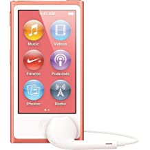 LATEST MODEL Apple Ipod Nano 7th Generation 16 GB Pink With Generic White Earpods and A USB Data Cable (Non Retail Packaged in a Brown Box)