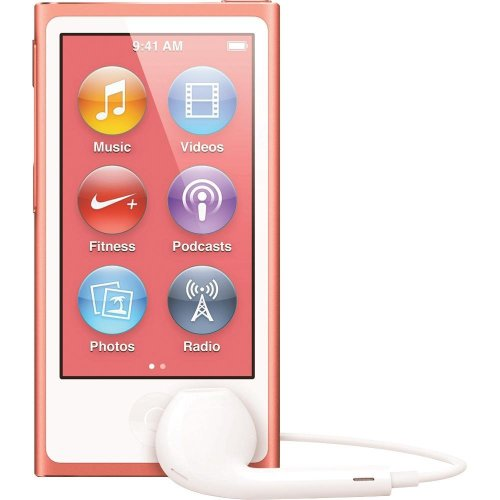 LATEST MODEL Apple Ipod Nano 7th Generation 16 GB Pink With Generic White Earpods and A USB Data Cable (Non Retail Packaged in a Brown Box) (Used Ipod Nano 7th Generation)