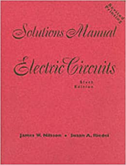 Electric circuits solutions manual james w nilsson electric circuits solutions manual james w nilsson 9780130908674 amazon books fandeluxe Image collections