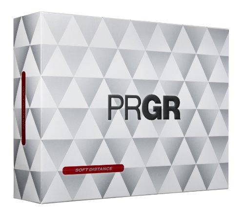 [골프공] PRGR(프로기어) 골프 볼 14SOFT DISTANCE 1다스 12개 들이 (색상: 화이트, 핑크)