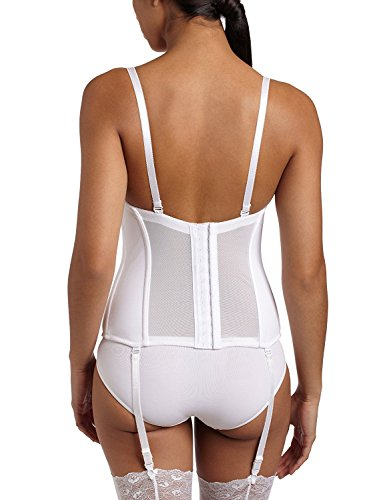 True Meaning Sexy Women's Full figure Seamless Molded Corset Bra, White, 36D