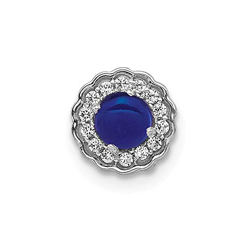 Jewelry Pendants & Charms Slides 14k White Gold Diamond and Sapphire Pendant ()