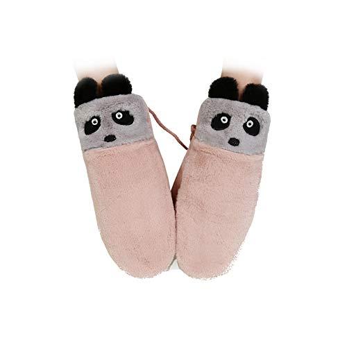 Gloves Touch Women Screen Winter Amdxd Cute Raccoon Rosa Warm gxBPwqqEZ