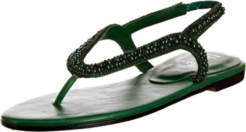 Unze Evening Sandals L18360W - Sandalias para mujer Verde
