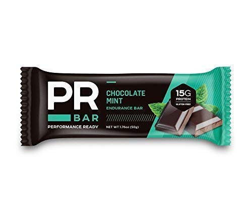 PR Bar | Chocolate Mint 15g Protein Bar | Energy Sustaining & Hunger Curbing | Whole Nutrition | On-the-Go Soy and Whey Protein Snack | Gluten-Free | 12 Pack