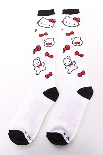 Knee High Socks - Hello Kitty - Kitty Face w/ Teddy Bear New Licensed (Hello Kitty Knee High Socks)