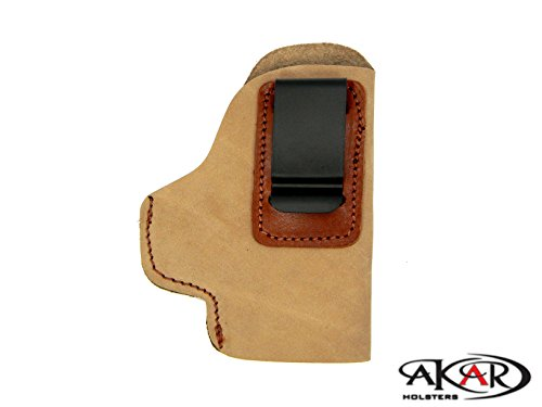 GLOCK – 17,22,31,21,21SF,34,37,43 IWB Inside Pants CCW Clip-On Holster- Choose Your Color & Hand (Suede - Right Hand) Inside Pant Suede Pistol Holster