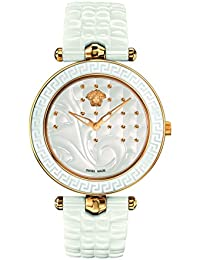 Women's 'Vanitas' Swiss Quartz Stainless Steel and Ceramic Casual Watch, Color:White (Model: VAO030016)