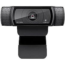 Logitech HD Pro Webcam C920, 1080p Widescreen Video Calling and Recording-(Certified Refurbished)