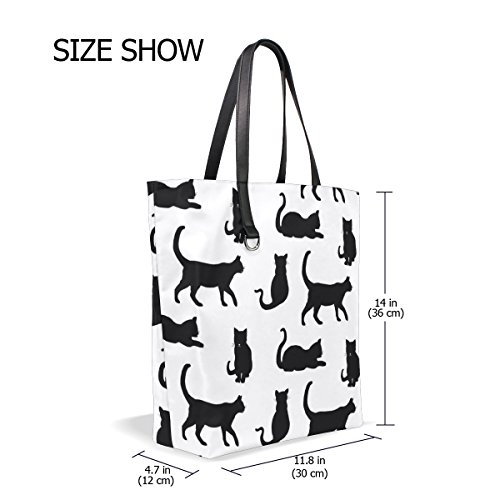Tote Travel Handbag Totes Beach Bags Shopping Women Bag for Black Tote Cats TIZORAX 7SxXt7