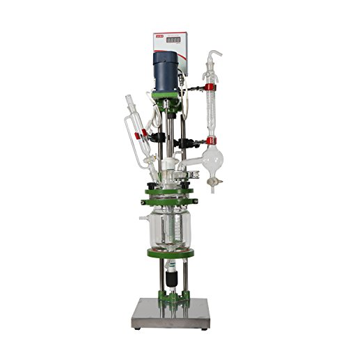 (lab1st 1L Small Jacketed Glass Chemical Reactor,Glass Reaction Vessel)
