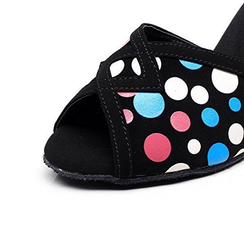 High Salsa Jazz heeled7 Chacha Samba Latin Black EU39 5cm Shoes Tango Our40 UK6 Shoes Dance Modern Women's JSHOE Sandals Heels IwzSq7A7