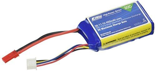 E-flite 450mAh 3S 11.1V 30C LiPo, 18AWG: JST, EFLB4503SJ30