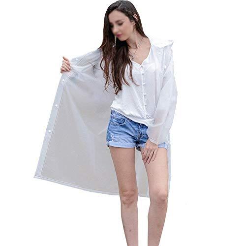 Impermeable Y Sección Portátiles Al Blanco Moda Impermeables Larga HTatZq