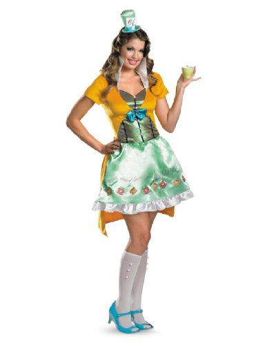[Mad Hatter Sassy Costume - Medium - Dress Size 8-10] (Good Story Book Character Costumes)