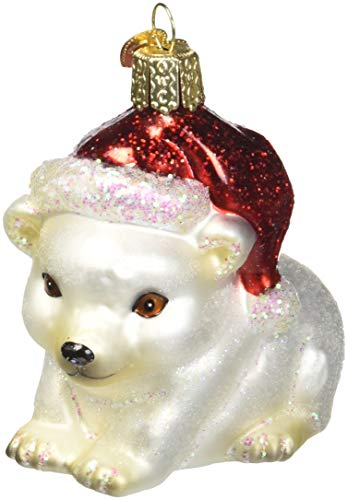 Polar Bear Ornament (Old World Christmas Ornaments: Christmas Polar Bear Glass Blown Ornaments for Christmas)