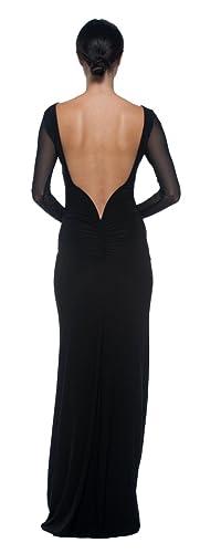 Women's Mermaid Column Gown Open Back Evening Party Formal Event Ball Long Dress