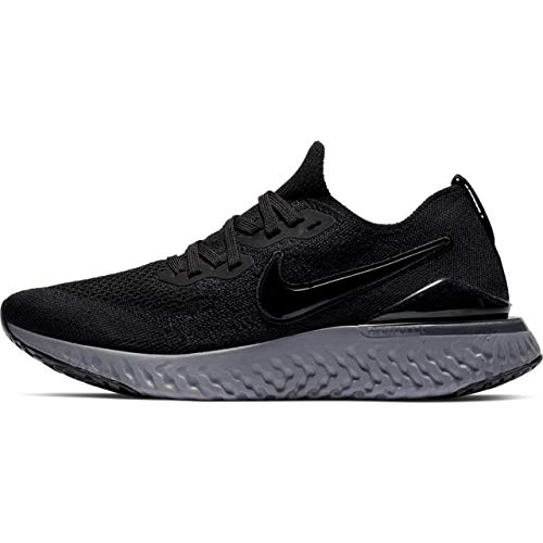 Nike Women's Epic React Flyknit 2 Running Shoes (11, Black/Anthracite)
