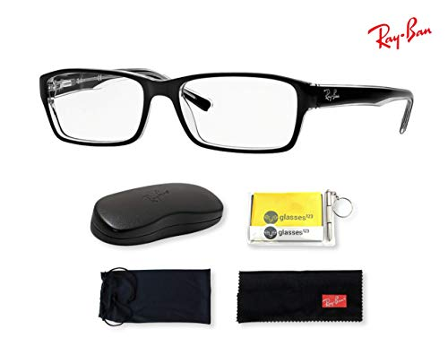 RX5169 (2034) Black/Transparent, 52mm (Ray Ban Wayfarer Clear Lenses)