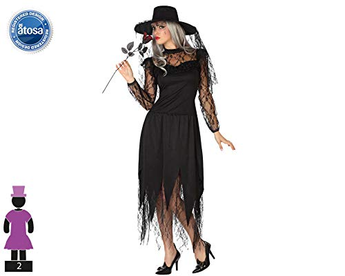 Atosa-26228 Disfraz Viuda Negra, Color, XS-S (26228: Amazon ...