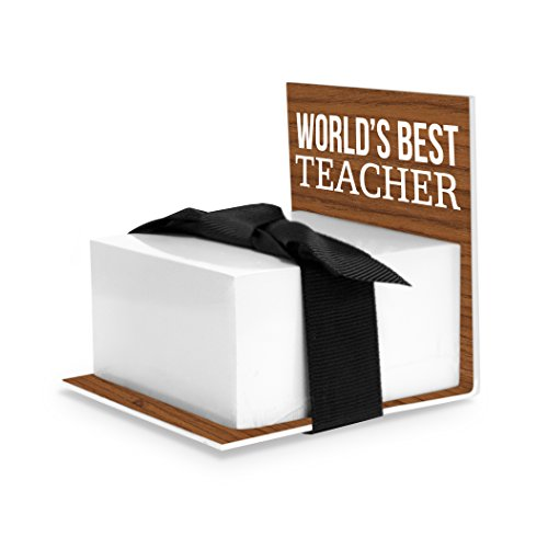 Sticky Notes Holder, Worlds Best Teacher, Brown (Best Teacher ()