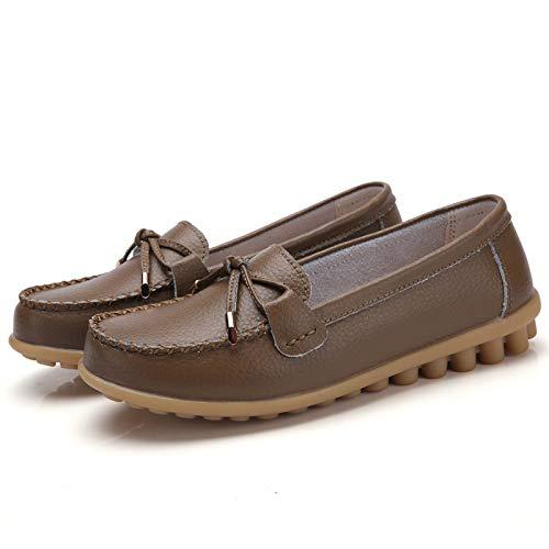 de Trabajo cómodos Oficina FLYRCX de de Antideslizantes Zapatos Boca una Variedad Cuero la para de Colores Elegir la de de Planos Suaves de Moda Maternidad señoras K Zapatos Baja Zapatos Zapatos wrOqgYrx1