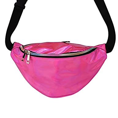 Women Waist Bags Holographic Fanny Packs Fashion Waterproof Travel Rave Bum Bag