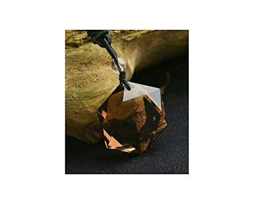 - Natural Polished Drilled Healing Crystal Gemstone for Jewelry Pendants Charms Beads 1pcs (Smoky Quartz)