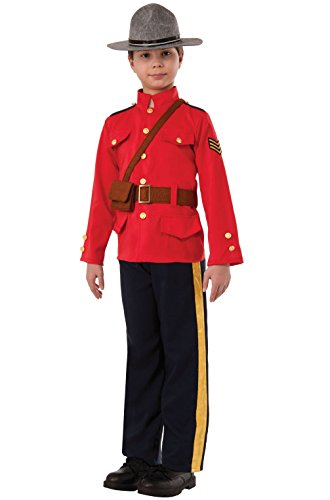 Mememall Fashion Royal Canadian Police Officer Mountie Child Costume (L) (Boys Canadian Mountie Costume)