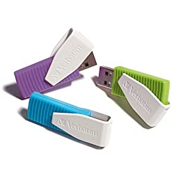 Verbatim 8gb Swivel Usb Flash Drive - 3pk - Blue, Green, Violet