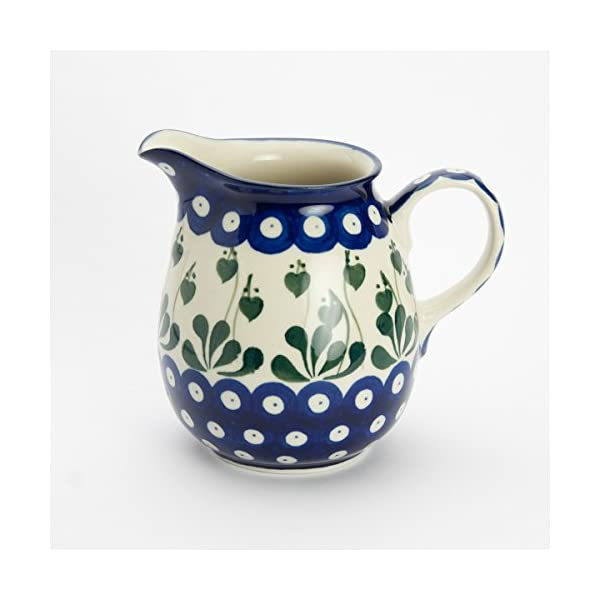 Polish Pottery Jug Pitcher – Love Leaf – 400ml