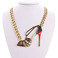 Hollow High-heeled shoes Explosion models exaggeration fashion retro false collar necklace